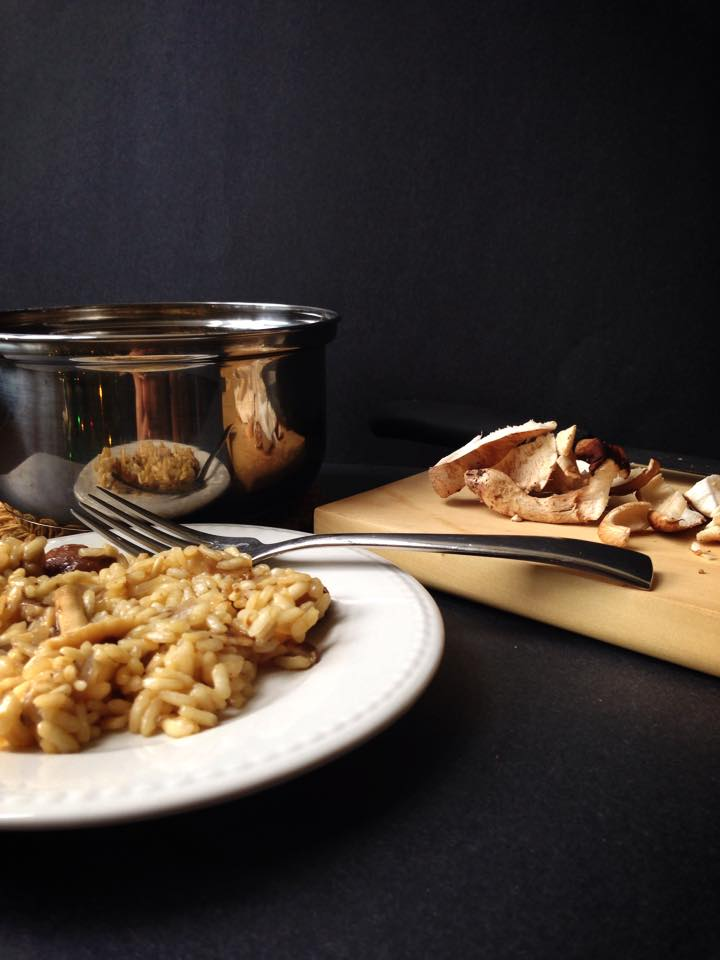 One Pot Vegan Mushroom Risotto | Whisk and Shout