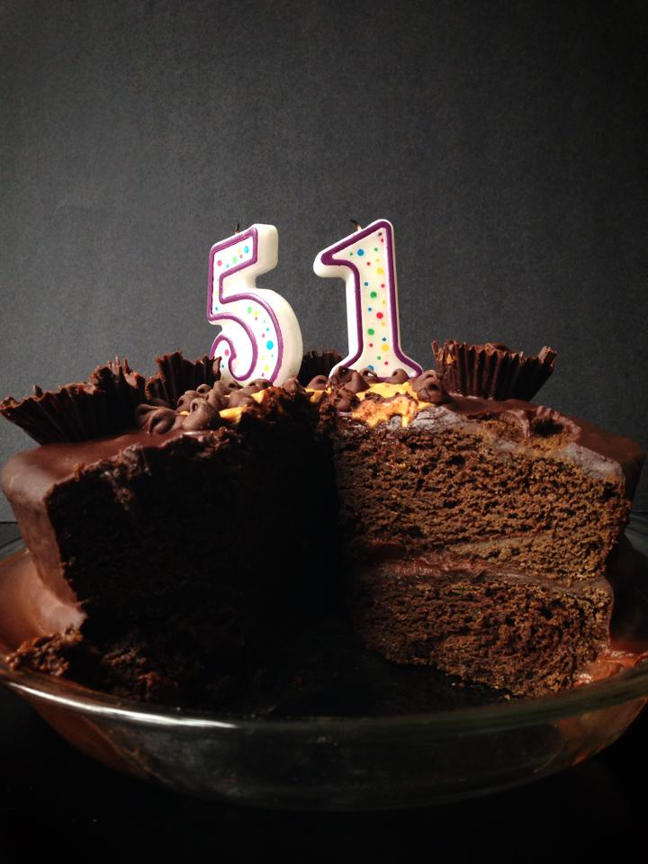 Double Chocolate Peanut Butter Cup Birthday Cake | Whisk and Shout