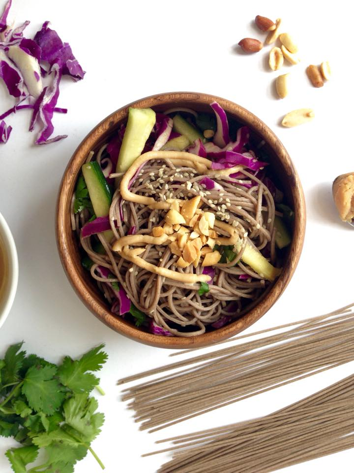 Rainbow Soba Salad | Whisk and Shout
