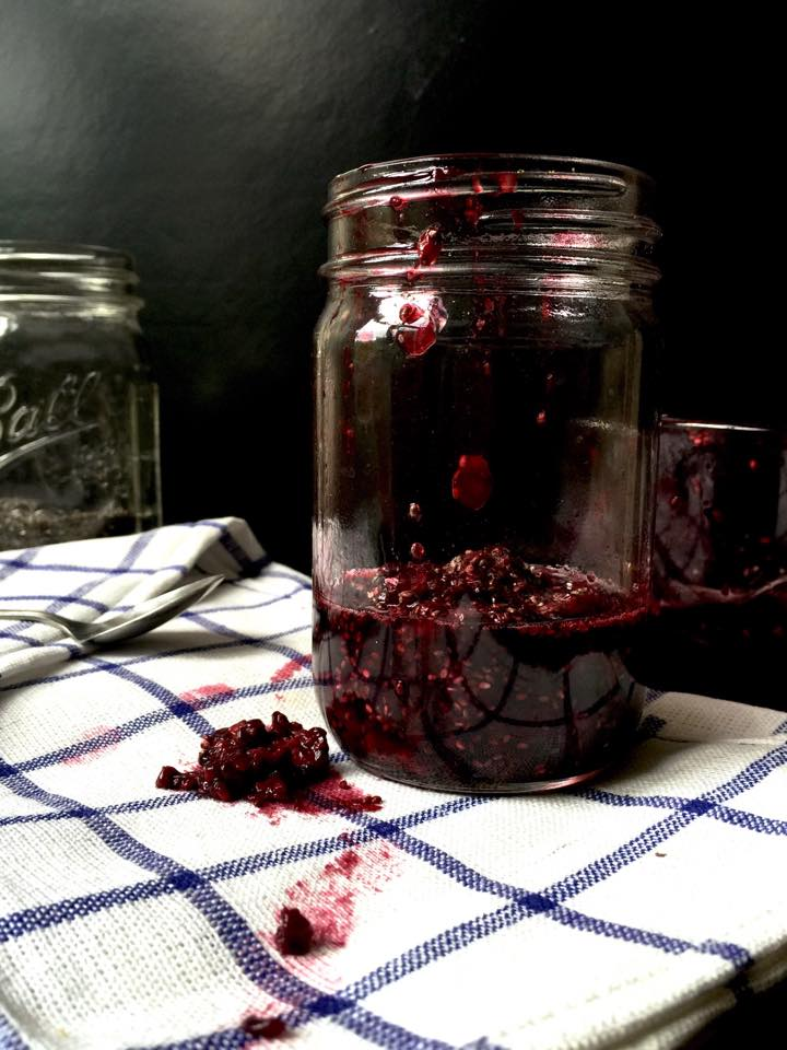 Microwave Blackberry Lime Chia Jam   Whisk and Shout