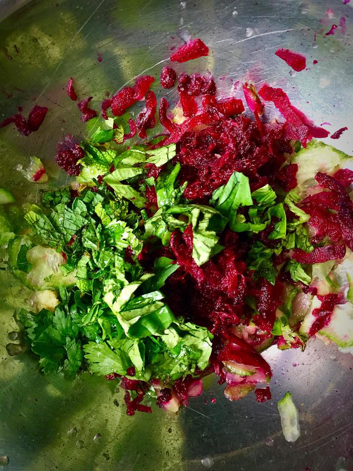 Herbed Beet Quinoa Tabbouleh   Whisk and Shout