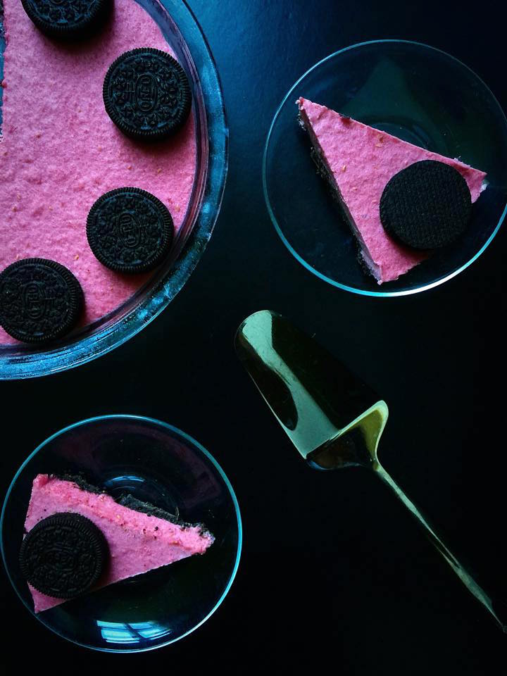 Raspberry & Macadamia Oreo Tart | Whisk and Shout