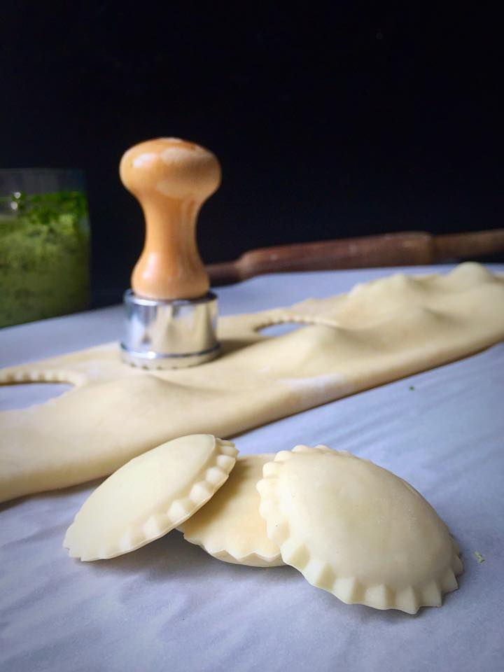 {Vegan} Pesto & Tofu Ricotta Ravioli | Whisk and Shout