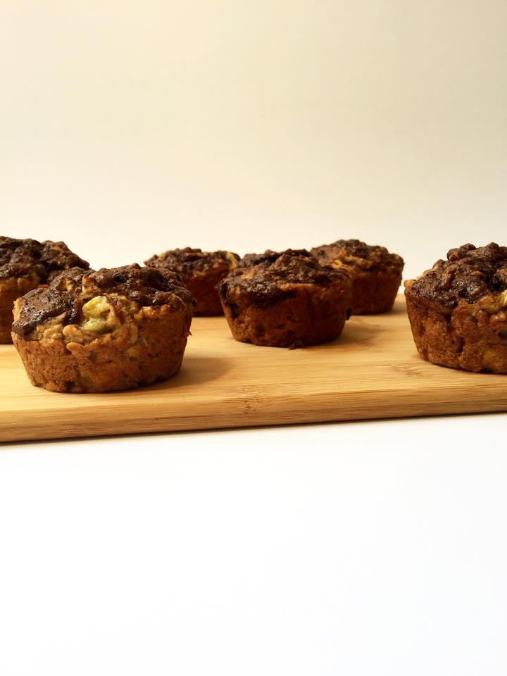 Marbled Vegan Banana Cocoa Muffins | Whisk and Shout