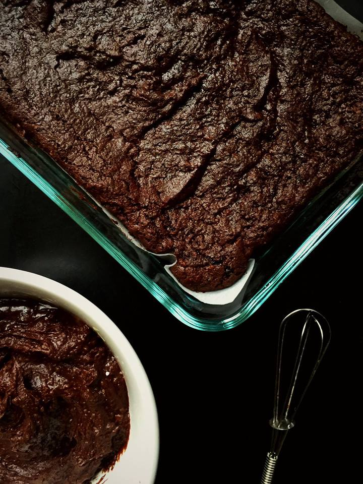 Small Batch Frosted Espresso Fudge Brownies {Vegan} | Whisk and Shout